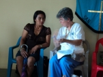 Pat counsels a patient.